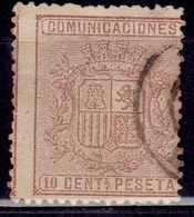 Spain, 1874, Coat Of Arms, 10c, Sc#211, Used - Gebraucht