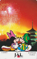 Télécarte NEUVE Japon / 110-167955 - DISNEY JAL - MICKEY & MINNIE In NARA - Japan AIRLINES MINT Phonecard - Disney