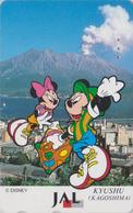 Télécarte Japon / 110-167958 - DISNEY JAL ** MICKEY & MINNIE In KYUSHU **  JAPAN AIRLINES Phonecard / Aviation Avion - Disney