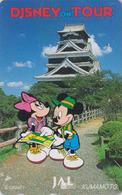 Télécarte Japon / 110-171131 - DISNEY JAL ** MICKEY & MINNIE In KUMAMOTO **  JAPAN AIRLINES Phonecard / Aviation Avion - Disney
