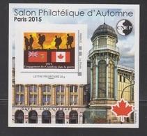 CNEP-2015-N°69** CANADA .Salon Philathélique De PARIS - CNEP