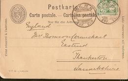 Switzerland & Marcofilia, Berna, Lancashire England 1904 (7791) - 1882-1906 Armarios, Helvetia De Pie & UPU