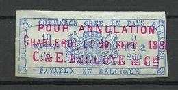 BELGIEN Belgium 1881, Revenue Tax, Stamp O - Revenue Stamps