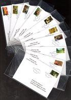 """"""" LES IMPRESSIONNISTES / ADHESIFS """" Sur 10 Env 1er Jour De 2006 De La Collection """" CACHETS PREMIER JOUR """" N°YT 3866-75 - France"""