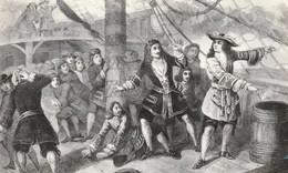 Rare Cpsm Jean Bart Menaçant De Faire Exploser Un Bateau Anglais à Bergen 1691 - Geschiedenis