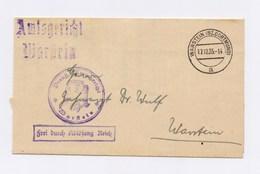 """DR Dienstbrief Amtsgericht WARSTEIN, """"Frei Durch Ablösung Reich"""" 1935 - Servizio"""