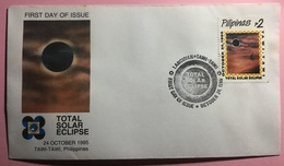 FDC Philippines 1995 - Total Solar Eclipse (Tawi Tawi Cancel) - Astrologie