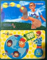 MACAU - CTM READY TO GO PHONE CARDS - 130 MOP & 260MOP - Macau