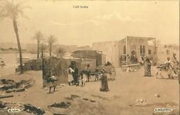 CAFE ARABE AU BORD D'UN PORT DE PLAISANCE - LIEU A DETERMINER - CARTE VIERGE - PEUT ETRE EGYPTE ? ? ? - Caffé