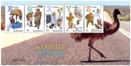 "Australia 2018 - Fair Dinkum Aussie Alphabet ""E"", ""O"", ""X"", ""Y"", ""Z"" MS - Numbered 49 - Emu Bird MNH - 2010-... Elizabeth II"