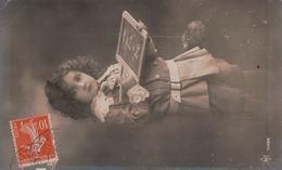 5430A  ENFANT    TIMBRE   1913    ECRITE - Cartes Humoristiques
