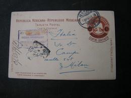 Mexico Card 1907 To Italy - Mexiko