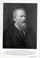 Professeur Karl-Joseph EBERTH (découverte Bacille  Typhique,1880 )Anatomie Pathologique Zurich, Halle(Saxe) TBE - Santé