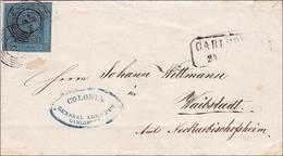 Baden: 1858, MiNr. 8a, Von Karlsruhe Nach Waibstadt - Baden