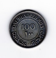 Superbe 100 Mils Palestine 1935 Argent - Coins