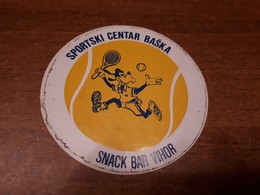Old Selfadhesive Label - Croatia, Tennis, Baška - Autres Collections