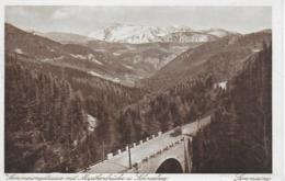 AK 0095  Semmering-Straße Mit Myrthenbrücke Und Schneeberg - Verlag Ledermann Um 1927 - Semmering