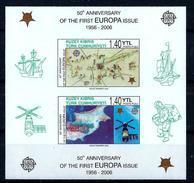 Cyprus (Turkey) 2006: 50th Anniversary Of The First EUROPA Stamps; Souvenir Sheet (imperforated) ** MNH - Europa-CEPT