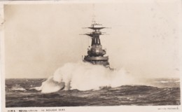 HMS RESOLUTION IN ROUGH SEAS. BRITAIN PREPARED SERIES - Guerre