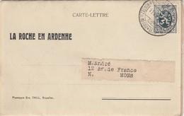 LA ROCHE EN ARDENNE / CARTE LETTRE EMISE PAR LE GRAND HOTEL DES ARDENNES / 5 IMAGES - La-Roche-en-Ardenne