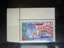 RARE VARIETE TIMBRE THERMALISME FACIALE ROUGE NEUF SANS CHARNIERE COIN DE FEUILLE YVERT 2556a - Errors & Oddities