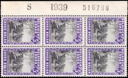 Congo 0197** Molindi Bloc De 6  Milésimé Et Numéroté - 1923-44: Neufs