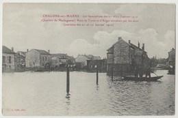 CPA 51 CHALONS SUR MARNE Les Inondations Des 21 Et 22 Janvier 1910 Quartier De Madagascar - Châlons-sur-Marne