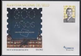 ESPAÑA SPAIN ESPAGNE SPANIEN XLVIII FERIA DEL SELLO 2016 EDIFIL 145 SOBRE ENTERO POSTAL SEP - Enteros Postales