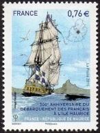 France N° 4979 ** Anniversaire Du Débarquement Des Français à L'Île Maurice - France