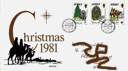 Christmas Noël Weihnachten Jul Navidad 1981 - Jersey - FDC - Jersey