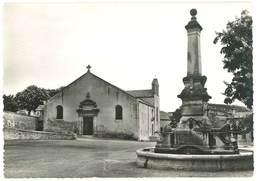 Cpsm Reillanne - L'église Et La Fontaine - France