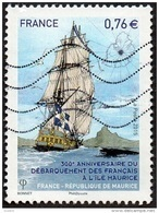 Oblitération Moderne Sur Timbre De France N° 4979 - Anniversaire Du Débarquement Des Français à L'Île Maurice - France