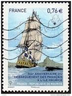 Oblitération Moderne Sur Timbre De France N° 4979 - Anniversaire Du Débarquement Des Français à L'Île Maurice - Used Stamps