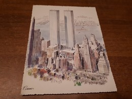 Postcard - USA, New York, WTC - World Trade Center