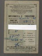 Bordeaux (33 Gironde) Carte De Réduction SNCF  1948  (PPP16197) - Autres