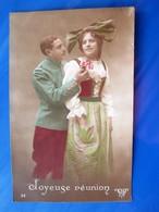Carte Humour Photo L D Guerre 1914/1918  JOYEUSE REUNION - Heimat