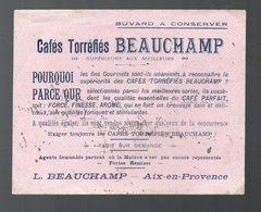 Aix En Provence (13 Bouches Du Rhône) Buvard Cafés BEAUCHAMP  (PPP16202) - Coffee & Tea