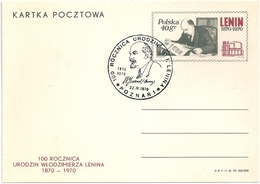 B2712 Poland Polska FDC With SPM Personality Lenin Postcard - Usines & Industries