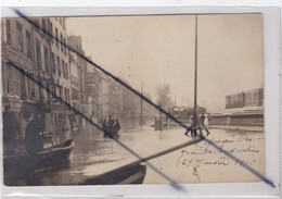 PARIS (75) 6ém Arr.- Paris Inondé 29 Janvier 1910 - Quai De Grands Augustins (carte Photo) - Inondations De 1910