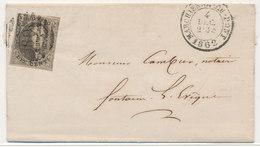 1862 BRIEF VAN MARCHIENNE AU PONT NAAR FONTAINE L'EVEQUE MET COB 10? ZIE SCAN(S) - 1858-1862 Medaillen (9/12)