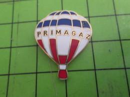 SP07 Pins Pin's / Rare Et De Belle Qualité  THEME MONTGOLFIERES : BALLON LIBRE TRICOLORE PRIMAGAZ - Luchtballons