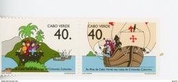 Cap Vert-Cabo Verde-1992-Caravelle, Ch Colomb-613/14***MNH - Cape Verde