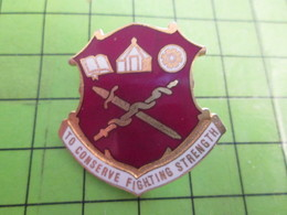 SP07 Pins Pin's / Rare Et De Belle Qualité  THEME AUTRES : TO CONSERVE FIGHTING STRENGTH BATON EPEE LIVRE ROUE EGLISE - Army