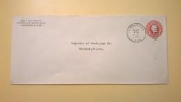 1926 BUSTA INTESTATA INTERO POSTALE BOLLO PRESTAMPATO 2 CENTS ANNULLO LANGFORD - Stati Uniti