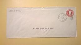 1926 BUSTA INTESTATA INTERO POSTALE BOLLO PRESTAMPATO 2 CENTS ANNULLO PIERPONT - Stati Uniti