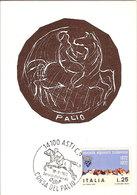 (C).Asti.Palio.1972.Xilografia G.Colli.Cartolina A Tiratura Limitata E Numerata (42-18) - Asti