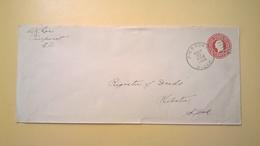 1927 BUSTA INTESTATA INTERO POSTALE BOLLO PRESTAMPATO 2 CENTS ANNULLO PIERPONT - Stati Uniti