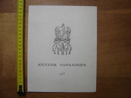 SOUVENIR NAPOLEONIEN 1963 Timbres NOISOT RUDE Reveil Napoleon FIXIN - Menus