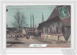 6814 D71C AK/PC/CPA/71/ CHATEAUNEUF / HOTEL DE LA CROIX BLANCHE ET PONT DE ST MAURICE/1908/TTB/COLORISE - Francia