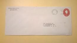 1954 BUSTA INTESTATA INTERO POSTALE BOLLO PRESTAMPATO 2 CENTS OVALE ANNULLO NEW YORK 17 - Stati Uniti